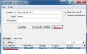 Подключение к MikroTik по MAC адресу
